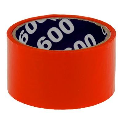 Клейкая лента упаковочная 48 мм х 24 м, 45 мкм UNIBOB (оранжевая) - Фото 1