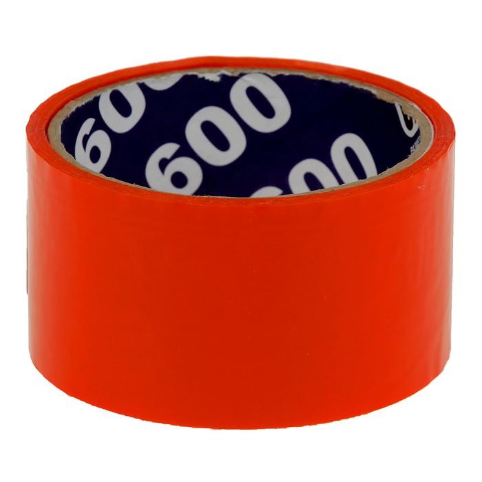 Клейкая лента упаковочная 48 мм х 24 м, 45 мкм UNIBOB (оранжевая)
