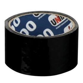 Клейкая лента упаковочная 48 мм х 24 м, 45 мкм UNIBOB 600 (черная) Ош