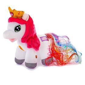 Мягкая музыкальная игрушка «Пони Радуга»,17 см