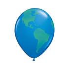 """Шар латексный 11"""" """"Планета земля"""", 5-сторонний, набор 25 шт., цвет голубой"""