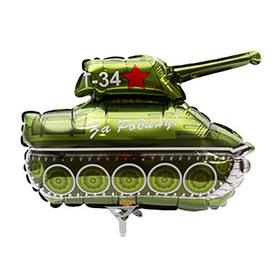 """Шар фольгированный 12"""" «Танк Т-34»"""