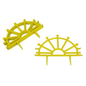Ограждение декоративное, 32 × 280 см, 7 секций, пластик, жёлтое, «Штурвал» Ош