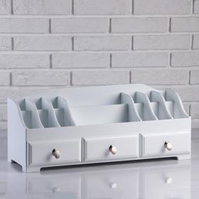 Комодик для косметики с 3 ящиками, БЕЛЫЙ, 60х25х20см