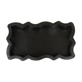 Форма для тротуарной плитки «Волна Зигзаг», 26 × 13 × 5.6 см, Ф11004, 1 шт. Ош