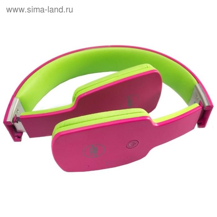 Наушники с микрофоном Stenn SB-290, Bluetooth, накладные, эко-кожа, розовые