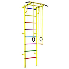 Детский спортивный комплекс 3.1 «Роки-Ленд» с навесным оборудованием, 830 × 670 × 2180 мм, цвет жёлтый/цветной,