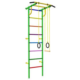 Детский спортивный комплекс 3.1 «Роки-Ленд» с навесным оборудованием, 830 × 670 × 2180 мм, цвет зелёный/цветной