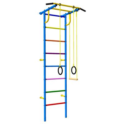 Детский спортивный комплекс 3.1 «Роки-Ленд» с навесным оборудованием, 830 × 670 × 2180 мм, цвет синий/цветной