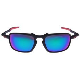 Очки спортивные, классические, линзы фиолетовые, дужки чёрно-красные, тонкие, 14х5.5 см Ош