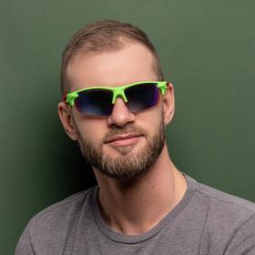 Очки спортивные, линзы  полупрозрачные, зеркальные,  дужки разноцветные, микс, 14х5.5 см Ош