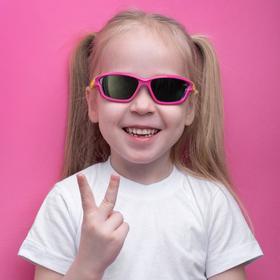 Очки солнцезащитные детские 'Спорт', оправа двухцветная с прорезями, МИКС, 12.5 × 4.5 см Ош