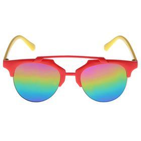 Очки солнцезащитные детские, планка сверху, двухцветные, линзы радужные, МИКС, 12.5 см Ош