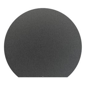 Лист притопочный, круглый, чёрный, сталь 1,2 мм, 90 х 80 см Ош