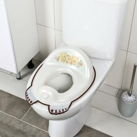 Детская накладка - сиденье на унитаз антискользящая «Мишки», цвет белый
