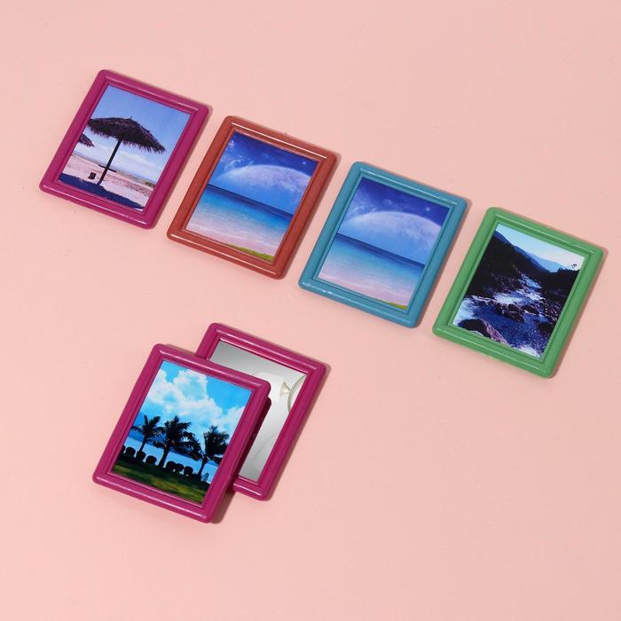 Зеркало с рамкой под фотографию, МИКС