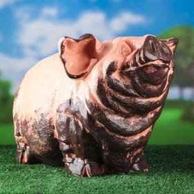 Садовая фигура 'Свинья', розовый цвет, 30 см Ош