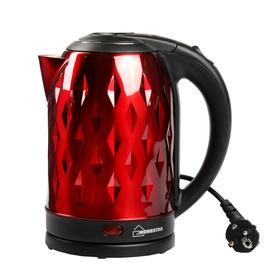 Чайник электрический HOMESTAR HS-1013, 1500 Вт, 2 л, металл, красный Ош