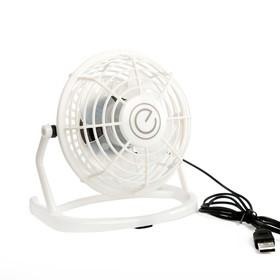 Вентилятор ENERGY EN-0604, настольный, 2.5 Вт, 1 скорость, пластик, белый Ош