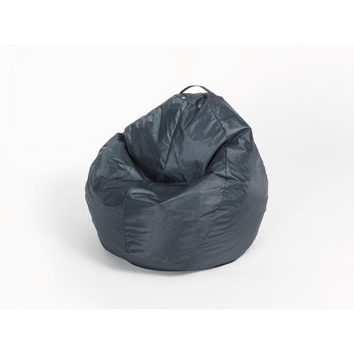 Кресло - мешок «Груша» малая, ширина 60 см, высота 85 см, цвет сине - чёрный, плащёвка