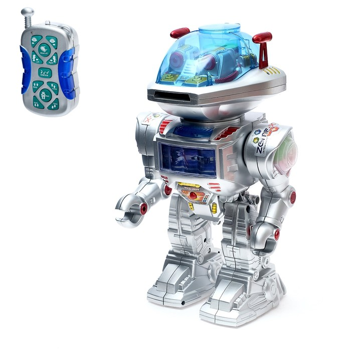 Робот радиоуправляемый «Интеллектуальный», работает от батареек, световые и звуковые эффекты, русская озвучка