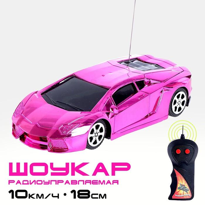 Машина радиоуправляемая Шоукар, работает от батареек, цвет розовый