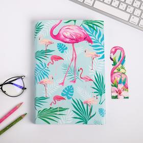 Обложка для книги с закладкой «Фламинго», 43 × 24 см Ош