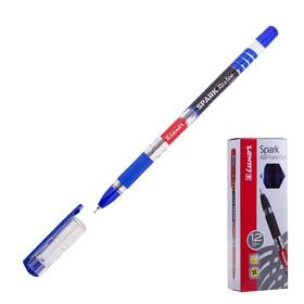 Ручка шариковая Luxor 1597 Spark пишущ.узел 0,7 мм, грип, синяя