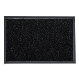 Коврик придверный влаговпитывающий «Лофт», 60×40 см, цвет чёрный Ош
