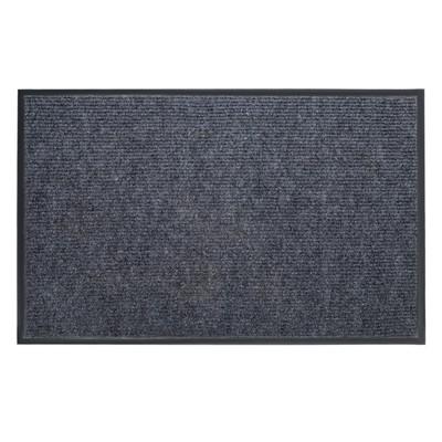 Коврик придверный влаговпитывающий, ребристый, «Комфорт», 50×80 см, цвет серый - Фото 1