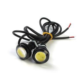 Дневные ходовые огни KS, KS-Н004, линза, металл, провода, 22х33х22 мм, 2 шт Ош