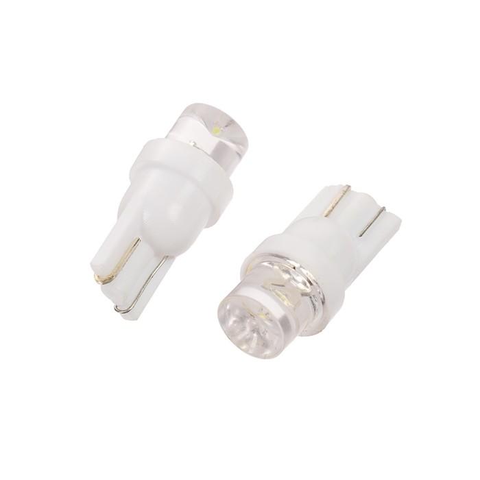 Лампа светодиодная KS,Т10 (W2,1-9,5d), 12 В, белая,  конус, б/цокольная