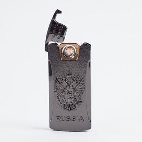 Зажигалка электронная 'Герб России', USB, спираль, золотистая, 3.5х7 см Ош