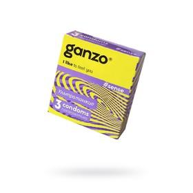 Презервативы Ganzo Sense «Ультра тонкие», 3 шт.