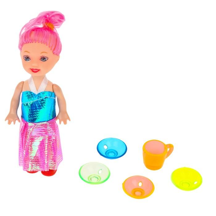 Аксессуары для кукол: набор посуды, МИКС