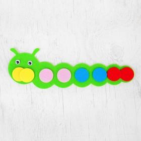Развивающая игрушка - учим цвета «Гусеница» из фетра Ош