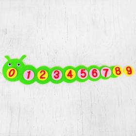 Развивающая игрушка - учим цифры «Гусеница» из фетра Ош