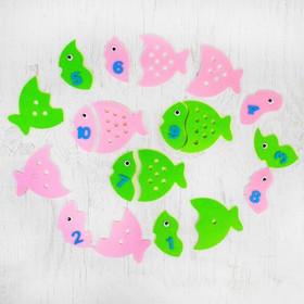 Обучающие счёту элементы «Рыбки» из фетра, размер 1 шт: 15 × 11 см Ош