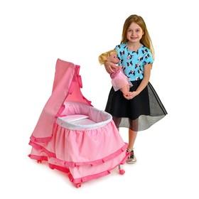 Кровать для кукол «Принцесса» металлический каркас
