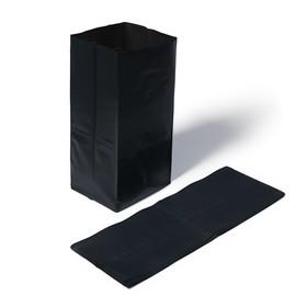 Пакет для рассады, 8 л, 15 × 43 см, с перфорацией, толщина 100 мкм, чёрный Ош