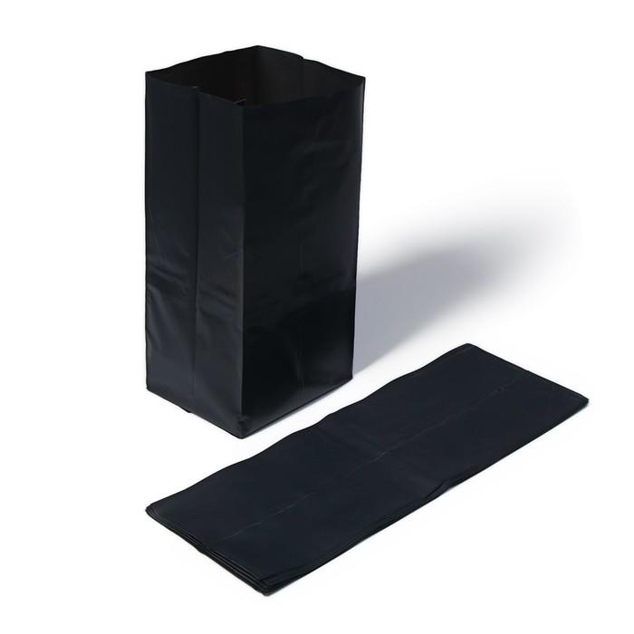 Пакет для рассады, 8 л, 38 × 47 см, с перфорацией, толщина 100 мкм, чёрный