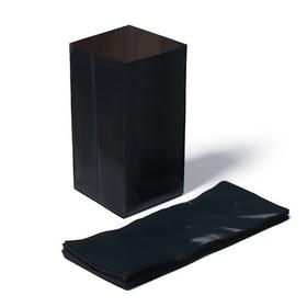 Пакет для рассады, 3 л, 11 × 30 см, толщина 60 мкм, с перфорацией, чёрный Ош