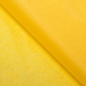 Бумага упаковочная тишью, желтый, 50 см х 66 см Ош