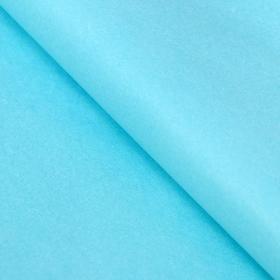 Бумага упаковочная тишью, голубой, 50 см х 66 см Ош