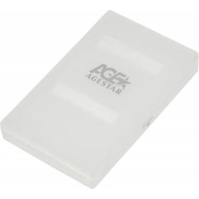 Внешний корпус для HDD/SSD AgeStar SUBCP1 SATA пластик белый 2.5' Ош