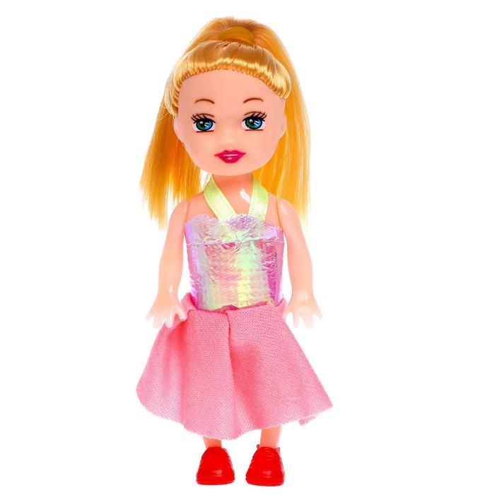 Кукла малышка Рита в платье, МИКС