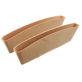 Органайзер для мелочей между сидений 35х11 см, бежевый, набор 2 шт Ош