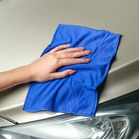 Салфетка для автомобиля, микрофибра 20x30 см, синяя