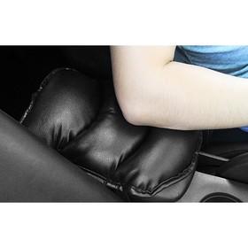 Подушка на подлокотник, экокожа, черный Ош