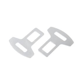 Заглушка ремня металлическая, хром, набор 2 шт Ош